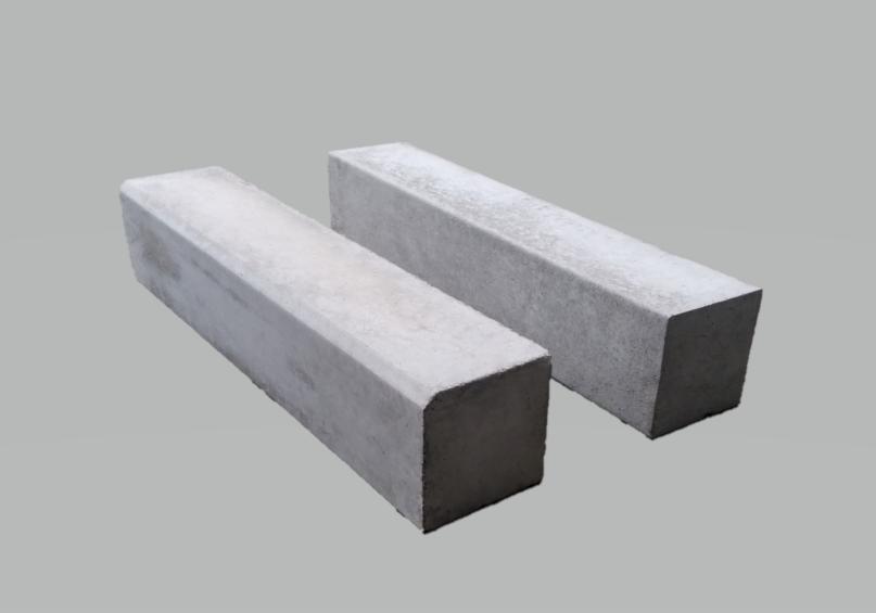 地先境界ブロックA 120×120×600(片面取、面無)